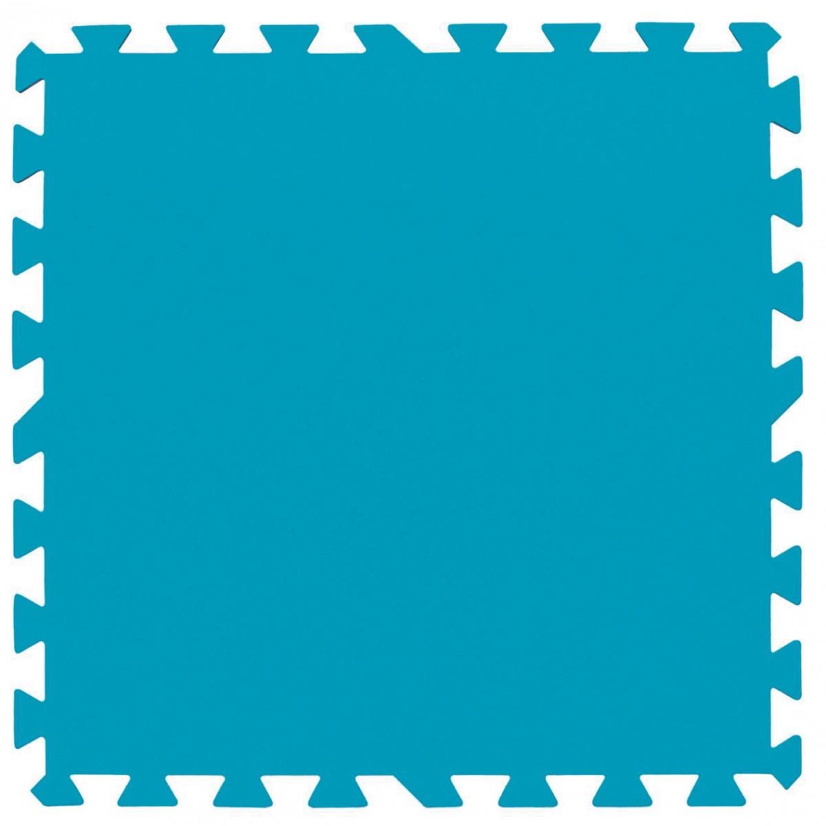 Lot de 9 tapis de protection pré-formés Bestway - 50 x 50 cm - Bleu