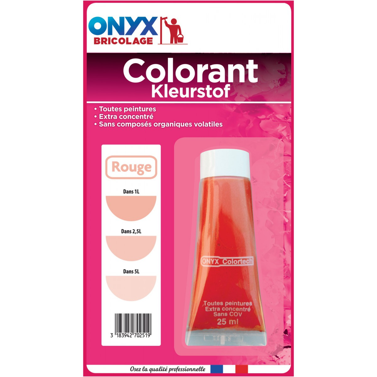 Colorant universel 25 ml Onyx - Rouge