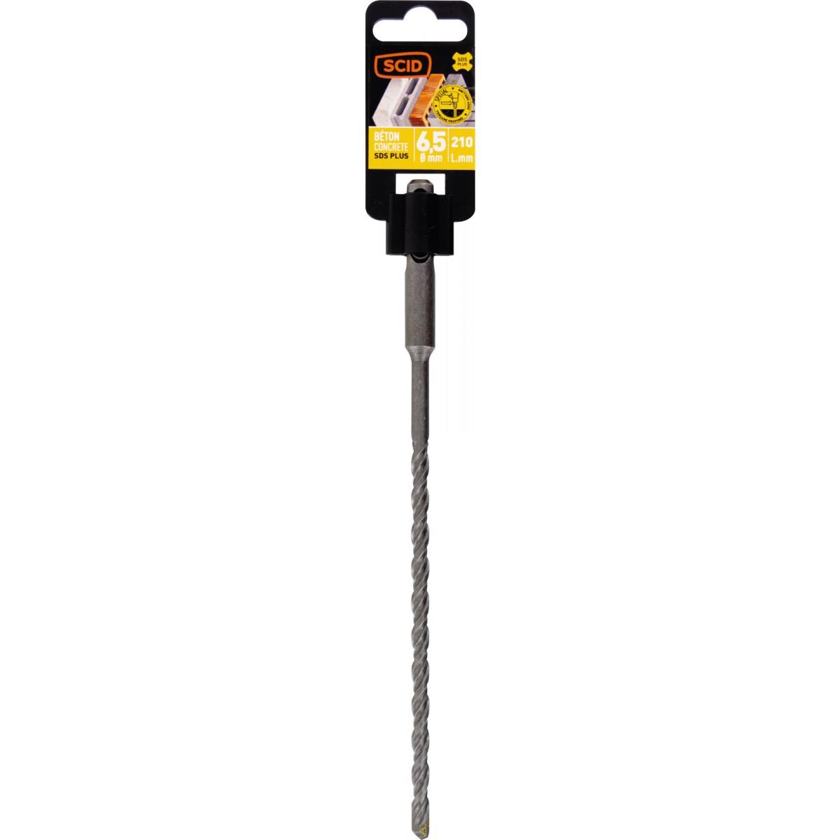 Foret béton SDS+ SCID - Longueur 210 mm - Diamètre 6,5 mm