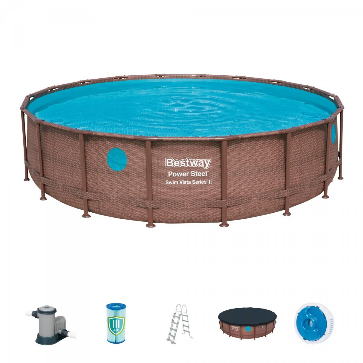 Piscine hors-sol ronde Power Steel™ Swim Vista Bestway - 549 x 122 cm