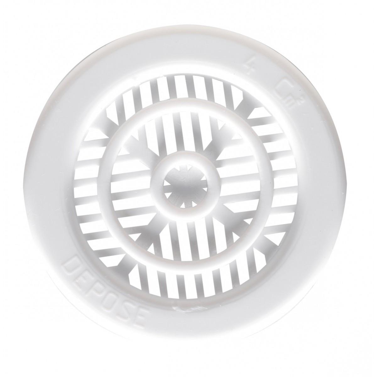 Grille plastique à encastrer pour contre-cloison DMO - Menuiserie - Longueur 10 mm - Diamètre 45 mm
