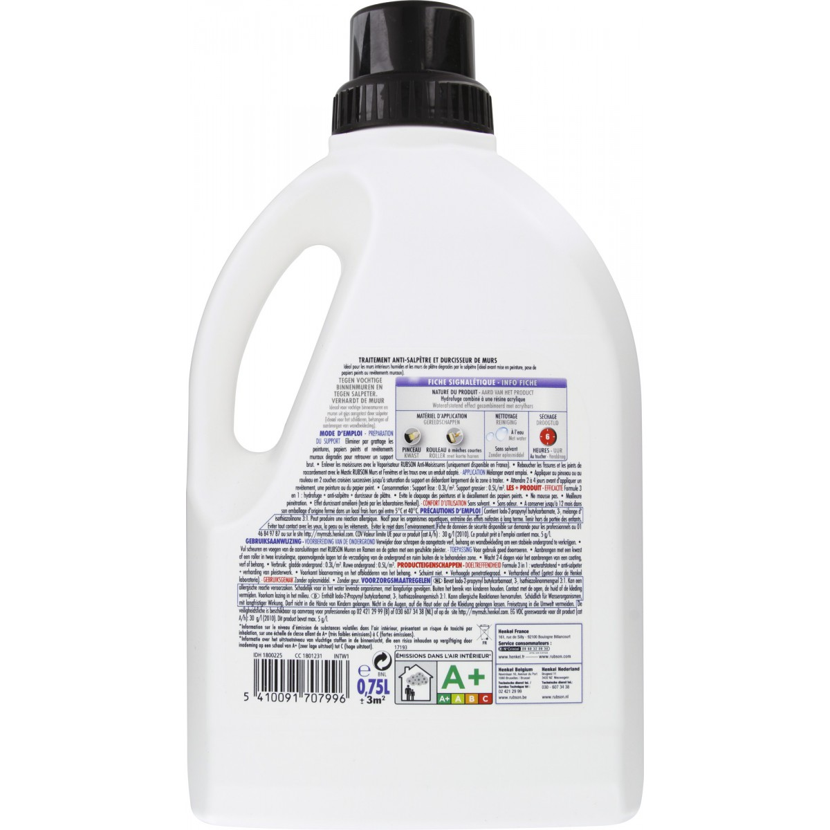 traitement mur int rieur humide rubson bidon 750 ml de