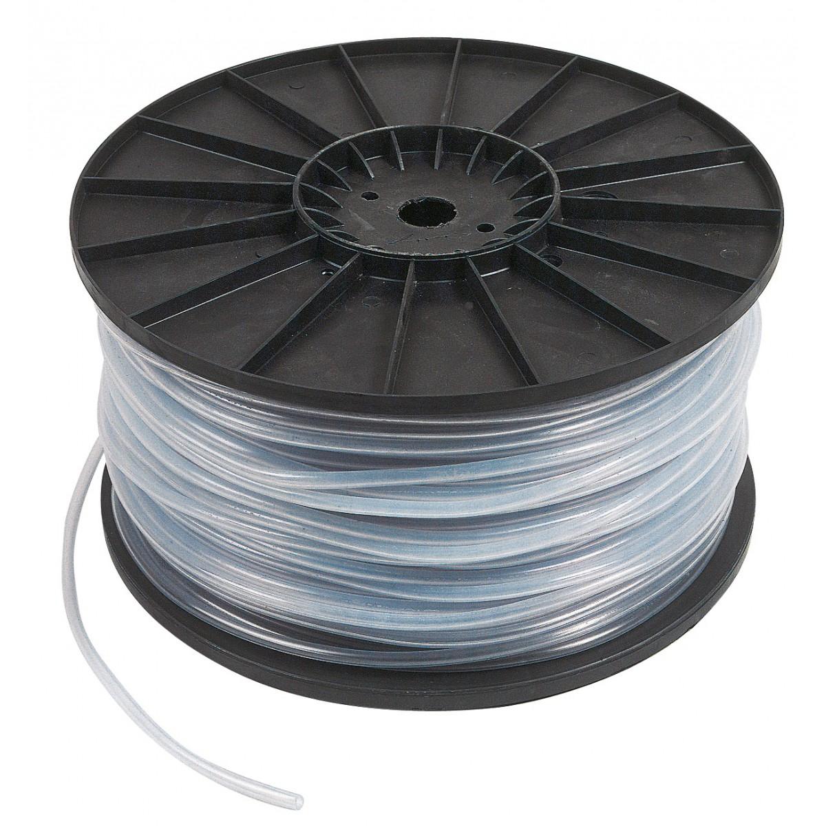 Bobine dévidoir cristal non armé Cap Vert - Longueur 200 m - Diamètre intérieur 4 mm - Extérieur 7 mm