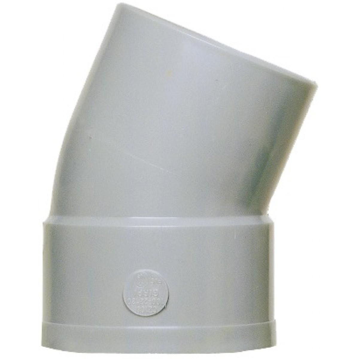 Coude à 22°30 Mâle / Femelle Girpi - Diamètre 100 mm