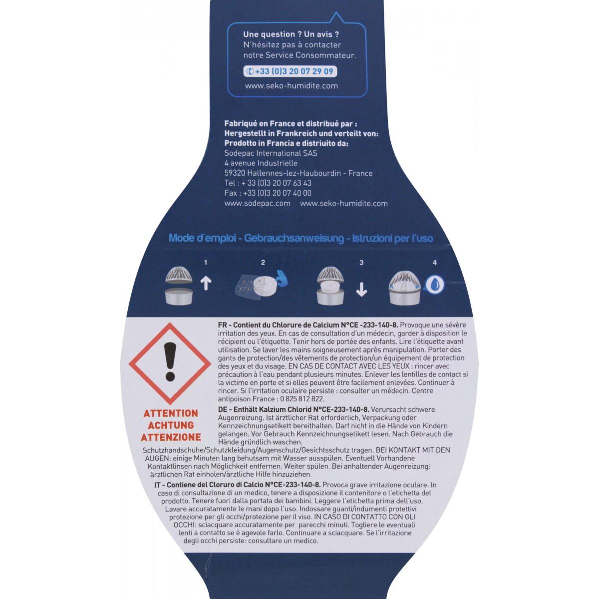 Absorbeur D Humidité Avis absorbeur d'humidité médium galet percé séko - 1 recharge