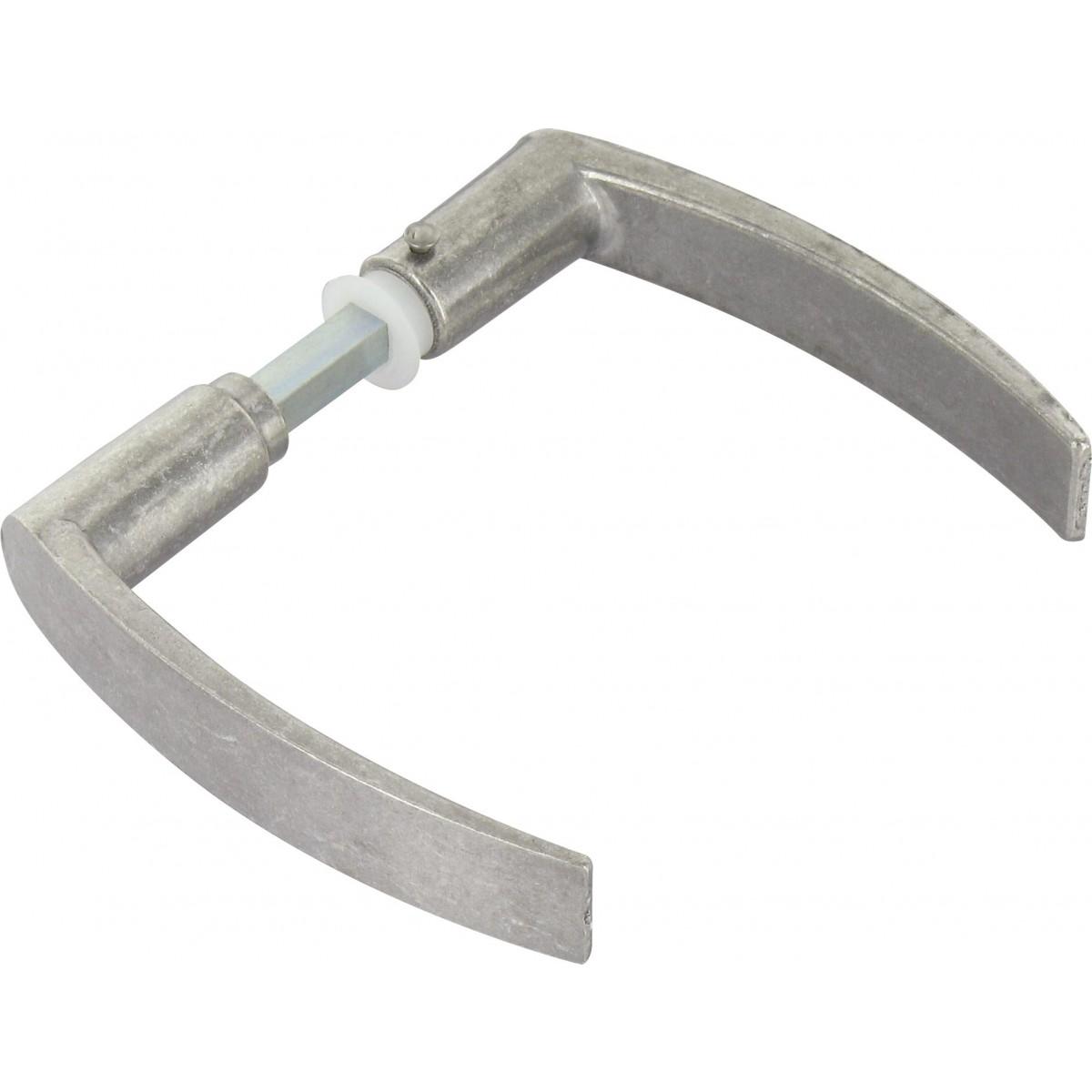 Béquille double en aluminium Dubois industries - Serrure à larder - Carré 7 mm