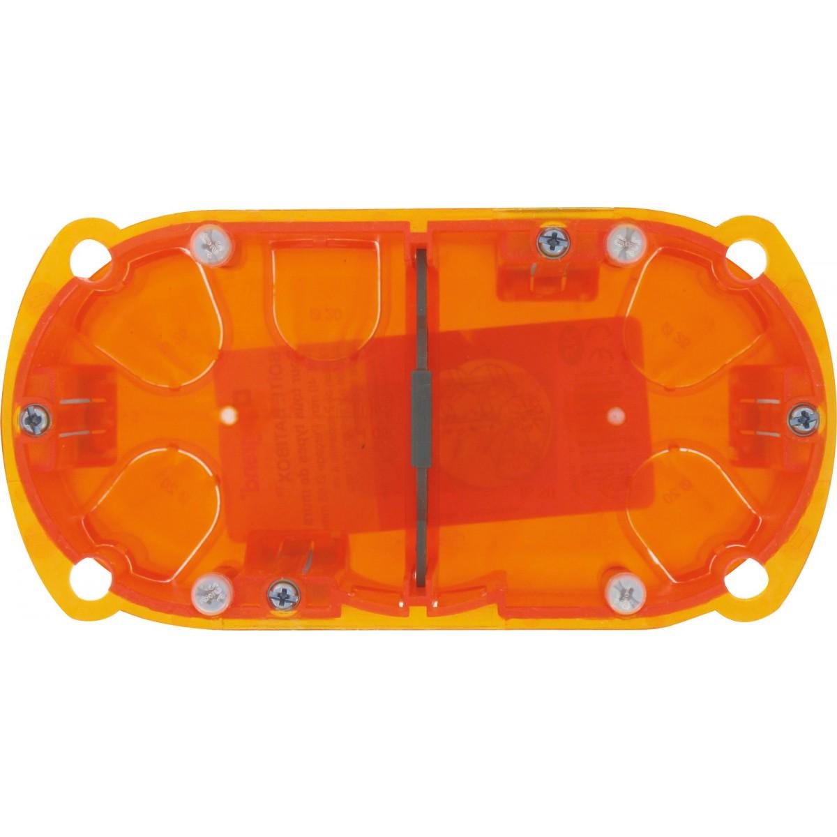 Boîte multimatériaux Legrand - 2 postes - Profondeur 40 mm