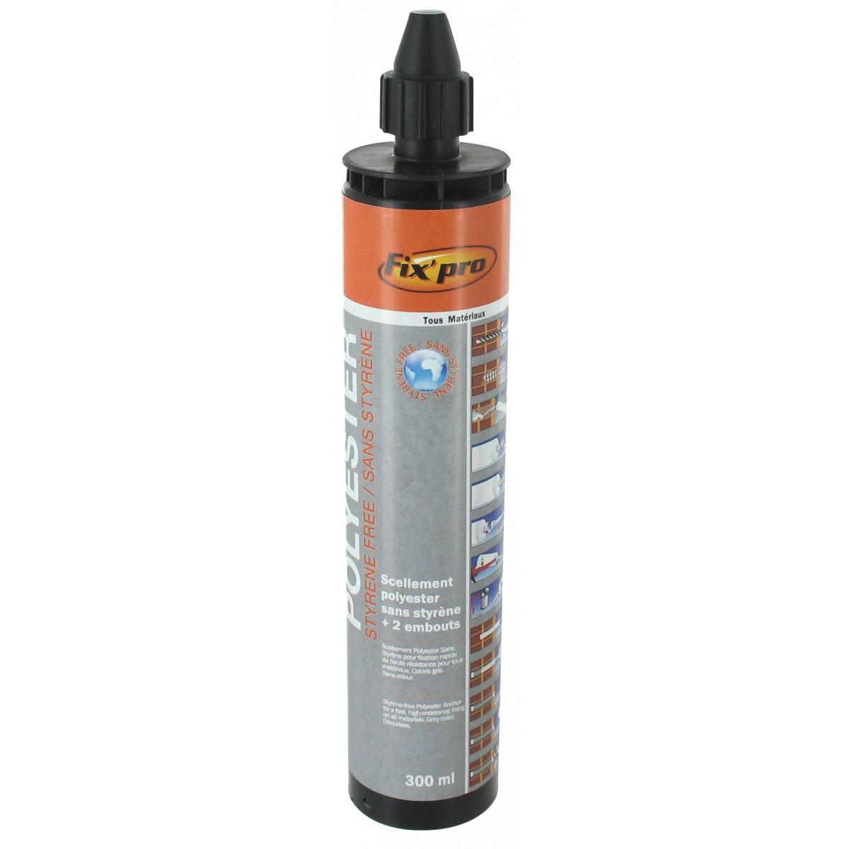 Scellement chimique polyester fix 39 pro 300 ml gris de - Cartouche scellement chimique ...