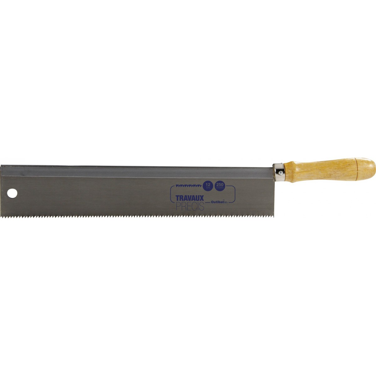 Scie à dos modèle droit Outibat - Longueur 250 mm