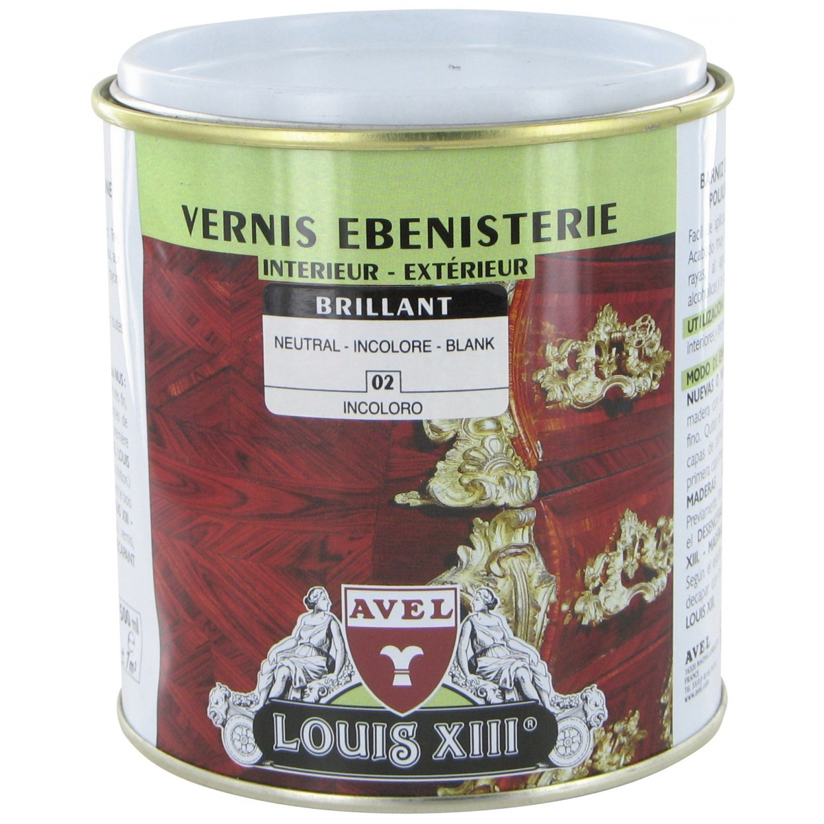 Vernis bois brillant 500 ml Avel Louis XIII - Incolore