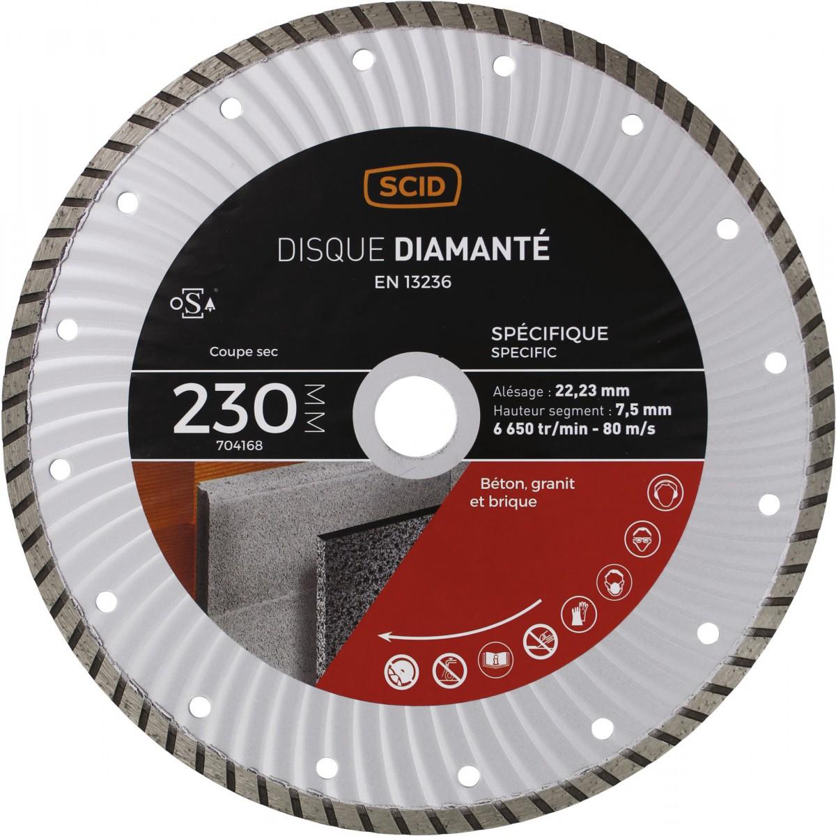 Disque diamanté spécifique crénelé SCID - 230 mm