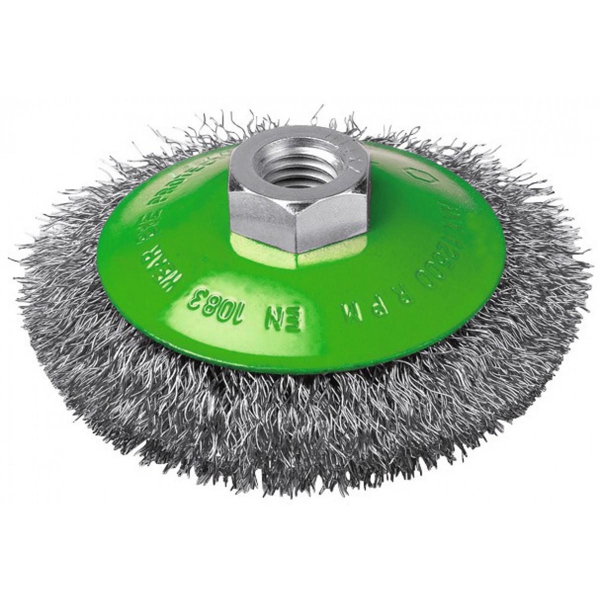 Brosse cuvette fils inox ondulés SCID - Diamètre 90 mm