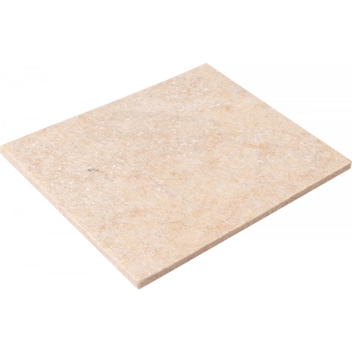 Patin adhésif feutre laine marron 3M- Rectangle - Dimensions 90 x 80 mm - Vendu par 1