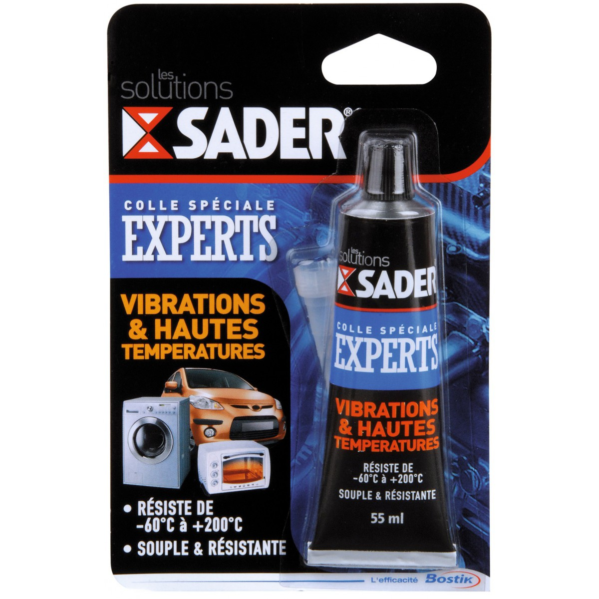 colle vibration et haute temp rature sader tube 55 ml de. Black Bedroom Furniture Sets. Home Design Ideas