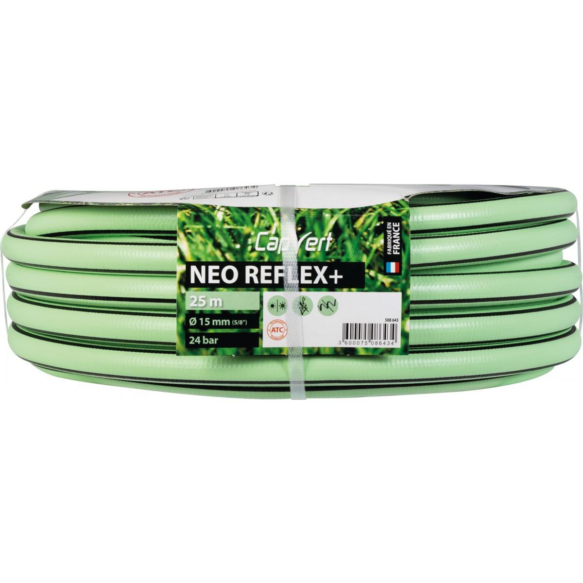 Tuyau d'arrosage Néo Reflex+ Cap Vert - Diamètre 15 mm - Longueur 25 m