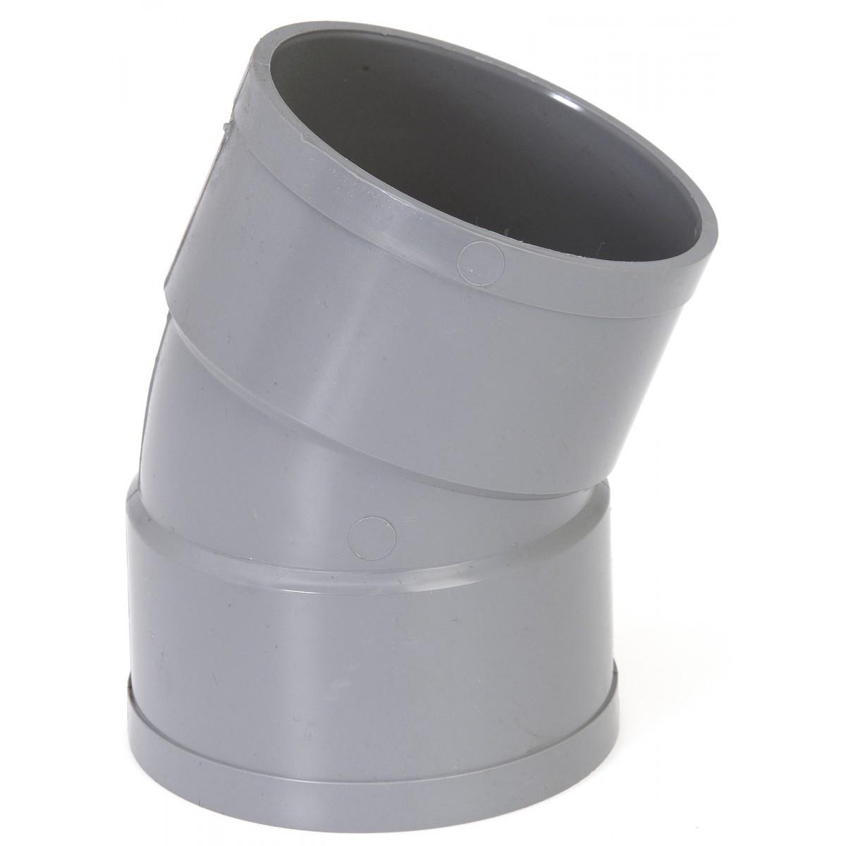 Coude à 22°30 Femelle / Femelle Girpi - Diamètre 40 mm