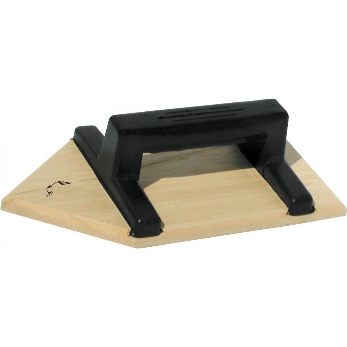 Taloche bois triangulaire Outibat - Dimensions 14 x 27 cm