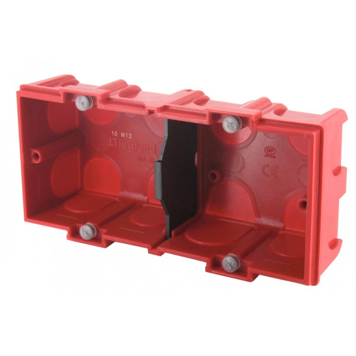 Boîte maçonnerie Legrand - 2 postes - Profondeur 40 mm