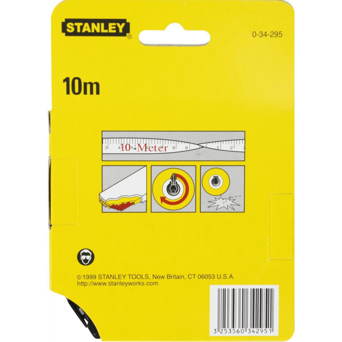 Ruban fibre de verre Stanley - Longueur 10 m - Largeur 12,7 mm