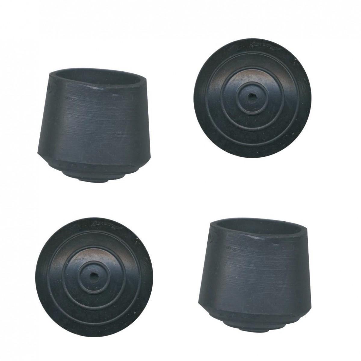 Embout enveloppant caoutchouc noir PVM - Diamètre 25 mm - Vendu par 4