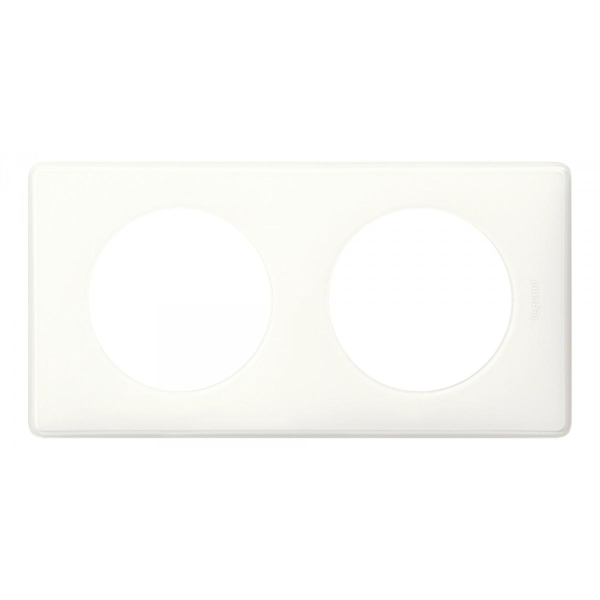 Plaque 2 postes Legrand - Céliane Mémories - Blanc