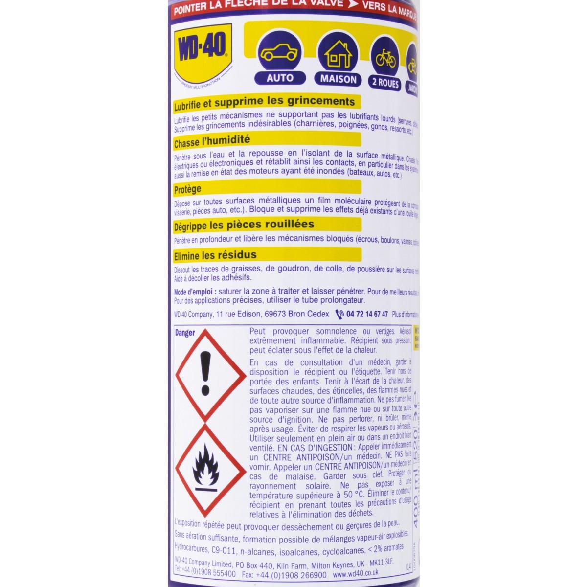 Huile multi-fonctions WD 40 - Aérosol 400 ml
