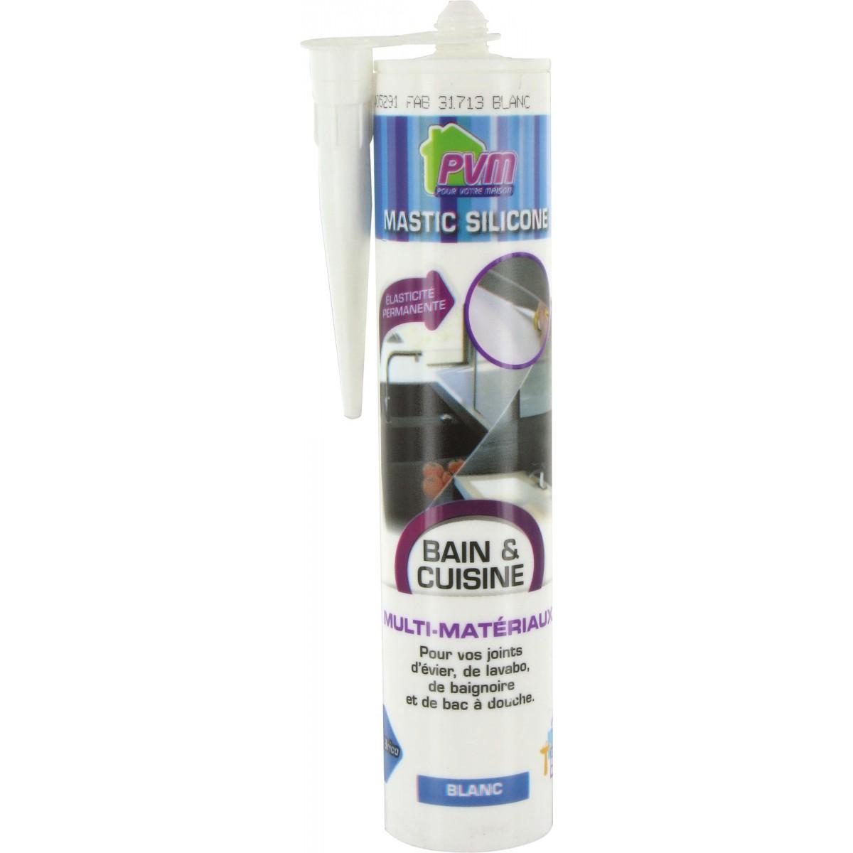 Mastic salle de bains PVM - Cartouche 310 ml - Blanc