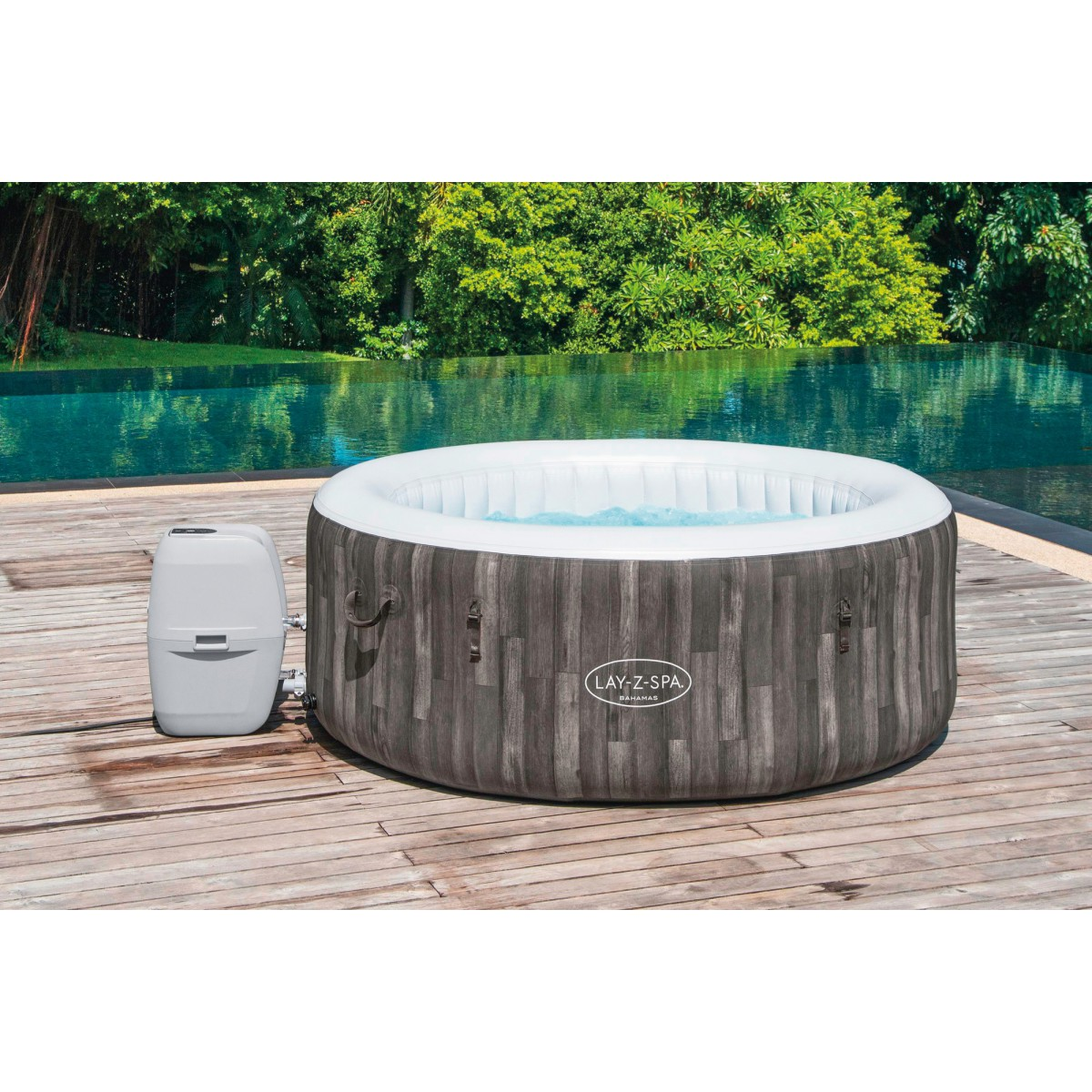 Spa gonflable rond Lay-Z-Spa® Bahamas Airjet™ Bestway - 2/4 places - 180 x 66 cm