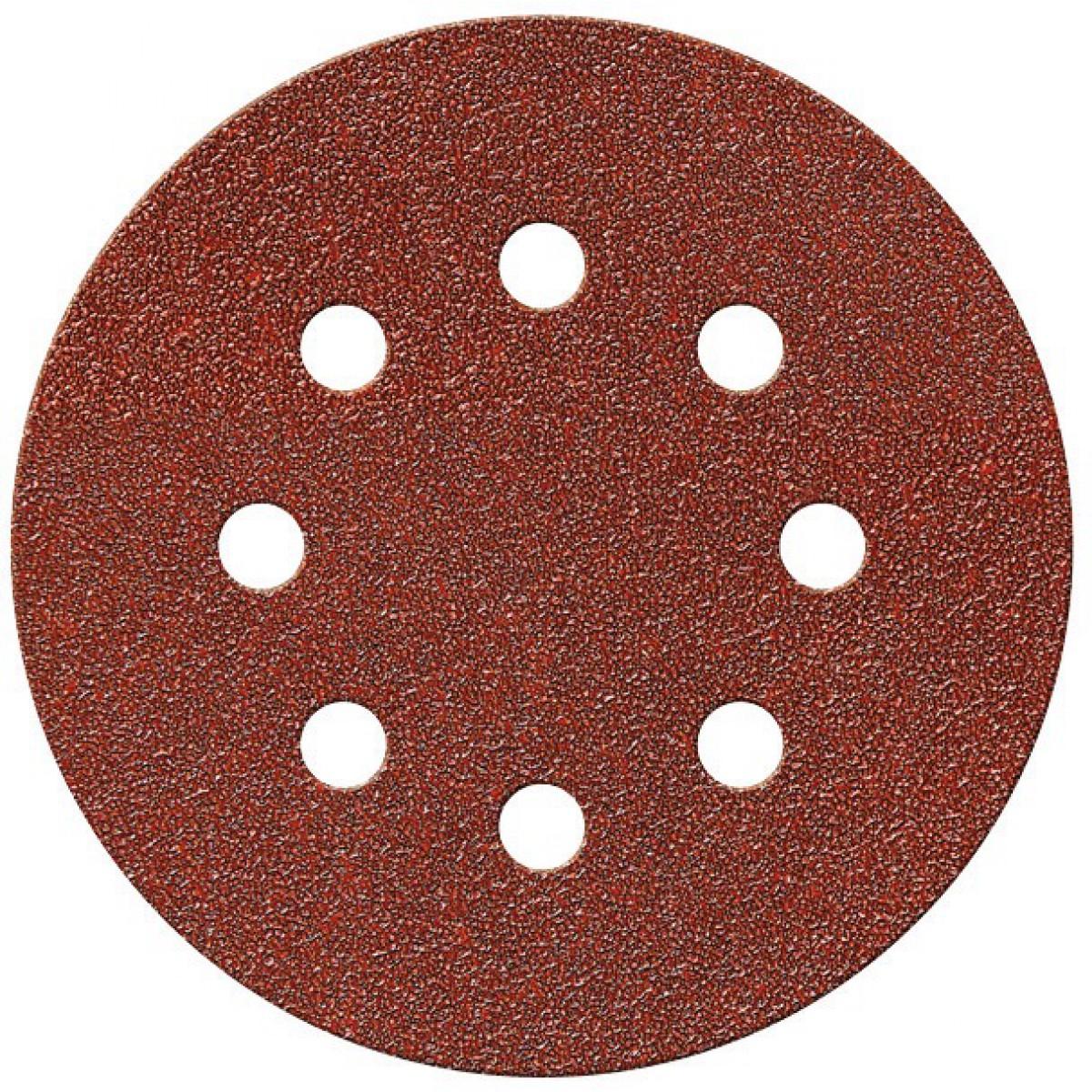 Disque auto-agrippant SCID - 8 trous - Grain 40 - Diamètre 125 mm - Vendu par 5