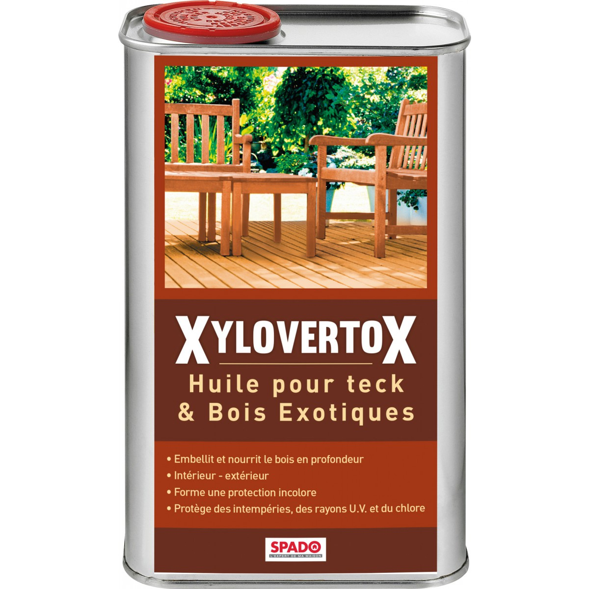 Tasseau Bois Exotique Exterieur huile pour teck et bois exotique spado - bidon 1 l