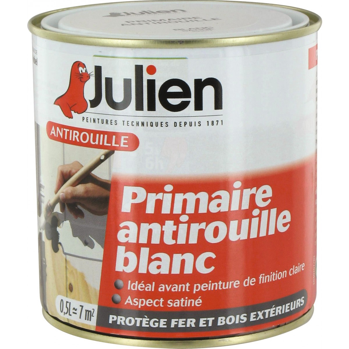 Antirouille blanc Julien - Boîte 500 ml
