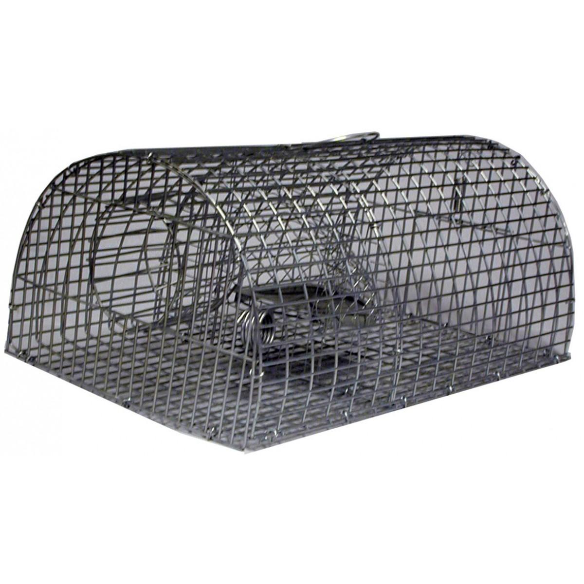 Nasse à rat multiprise forme tunnel Masy - Grillage zingué - Dimensions 45 x 29 x 21 cm - Maille 25 x 12 mm |