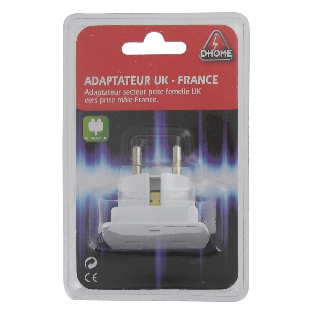 Adaptateur UK - France Dhome