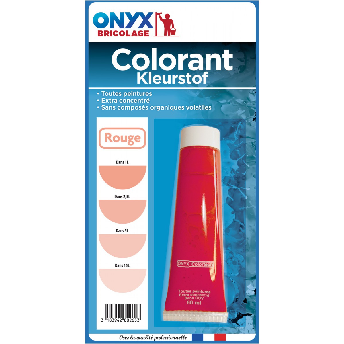 Colorant universel 60 ml Onyx - Rouge