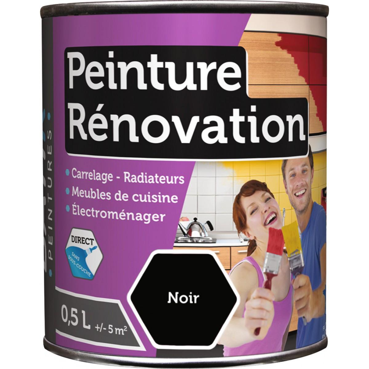 Peinture rénovation multi-surfaces Batir - Boîte 0,5 l - Noir