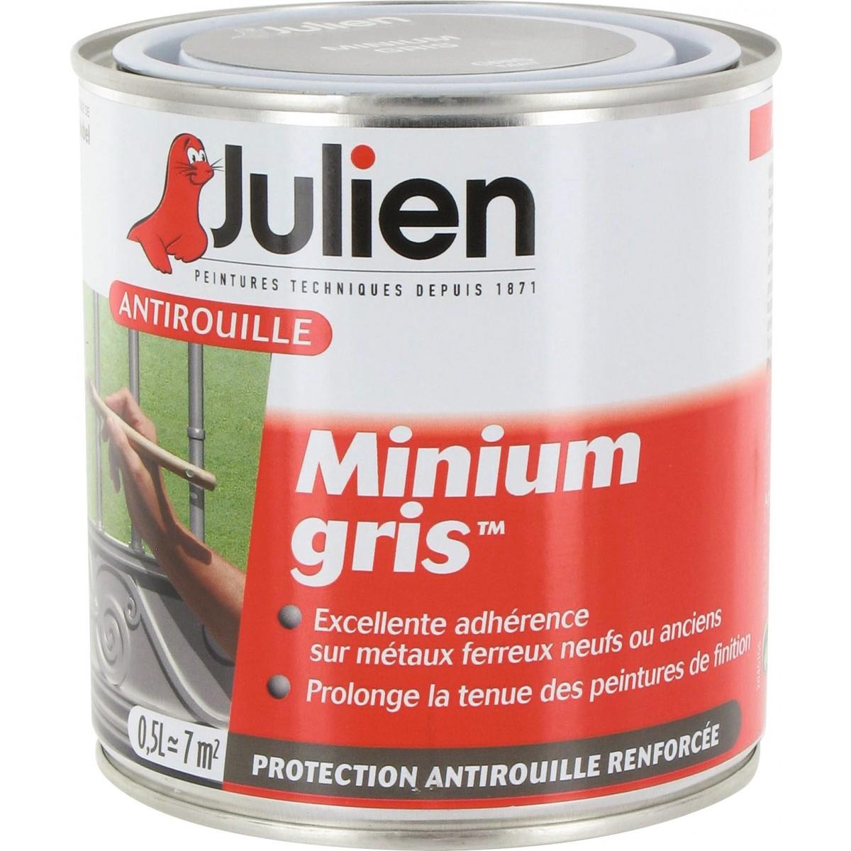 antirouille minium gris julien bo te 500 ml de antirouille minium gris. Black Bedroom Furniture Sets. Home Design Ideas