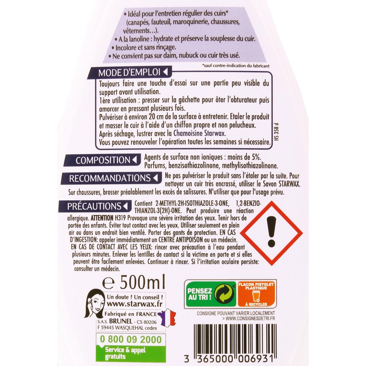 Lait de soin cuir Starwax - 500 ml