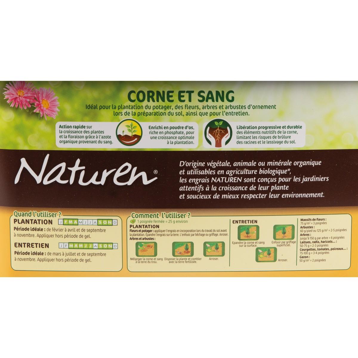 Corne et sang Naturen
