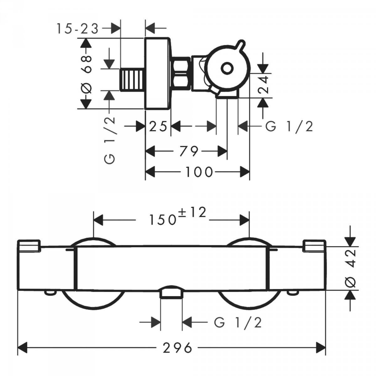 Mitigeur thermostatique douche Ecostat 1001 CL - Hansgrohe
