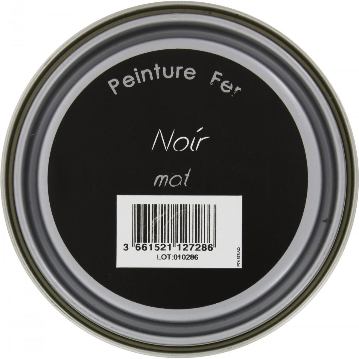 Peinture fer Addict - 0,5 l - Noir mat
