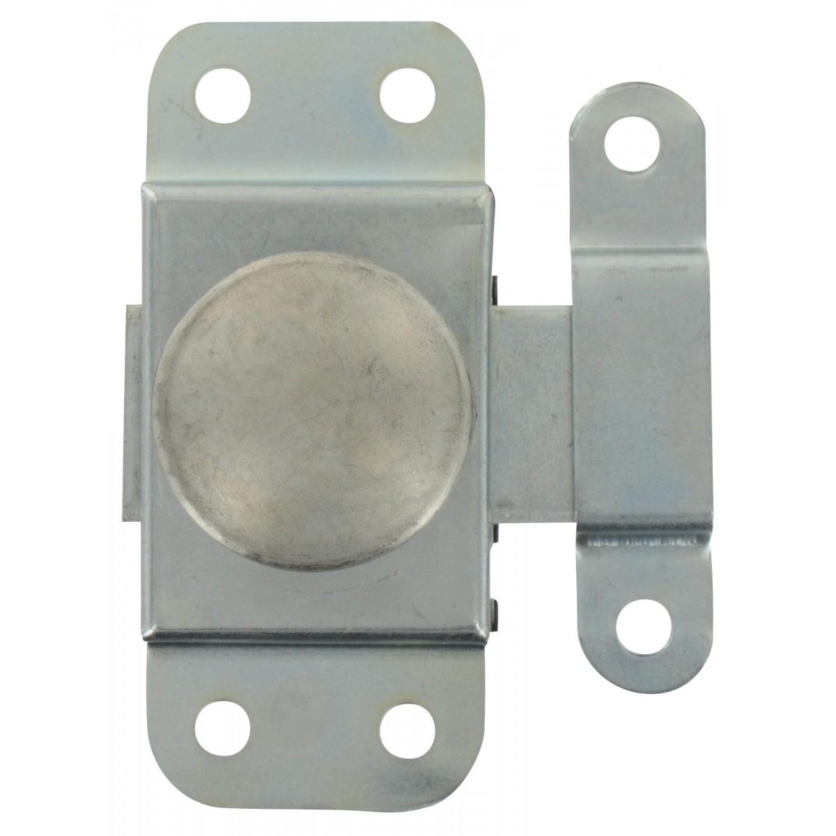 Targette bouton tournant acier Strauss Vonderweidt - Zingué - Longueur 30 mm