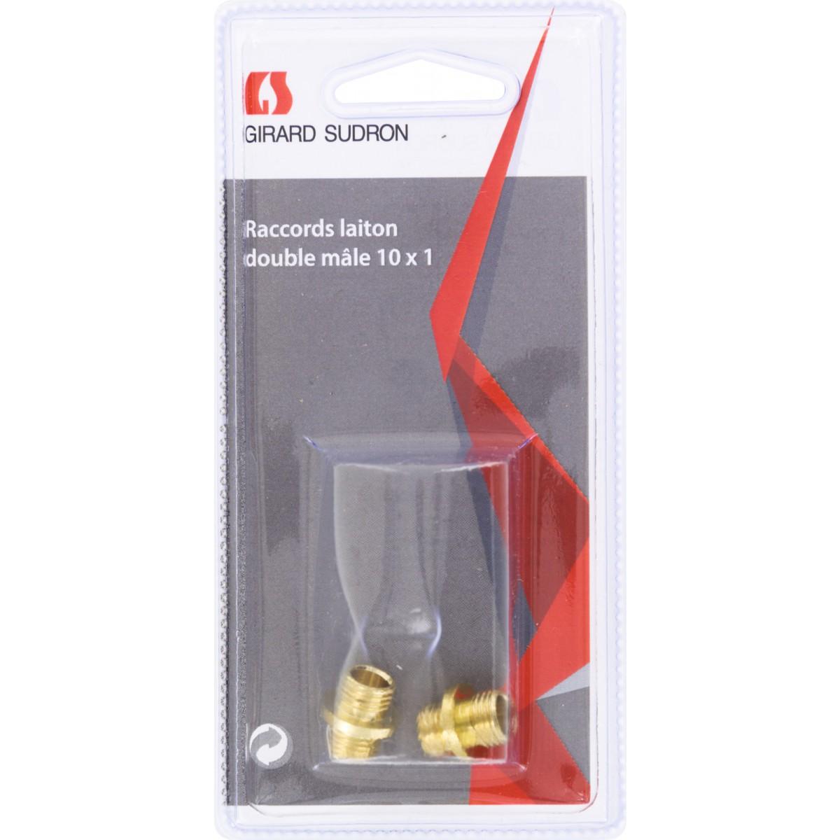Raccord lustrerie Girard Sudron - 2 mâles 10 x 1 mm - Vendu par 2