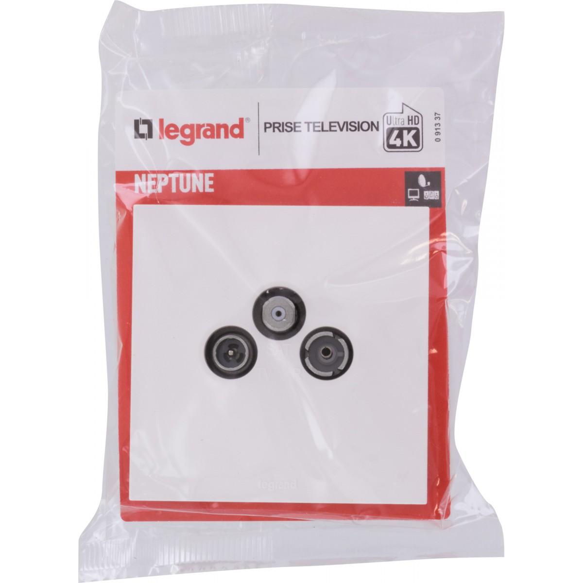 Prise TV-FM-SAT Legrand - Neptune - Blanc