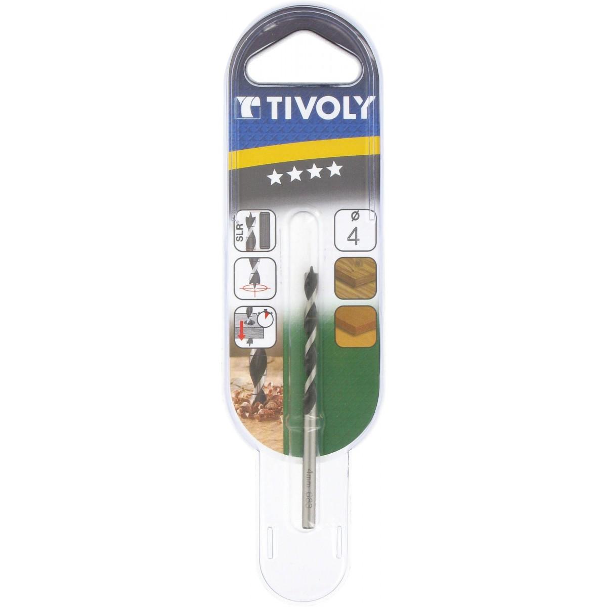 Meche à bois industrie graduée SLR trois pointes Tivoly - Longueur 75 mm - Diamètre 4 mm - Vendu par 1