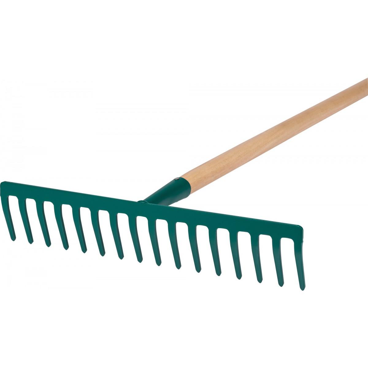 Râteau forgé Cap Vert - Emmanché 16 dents droites