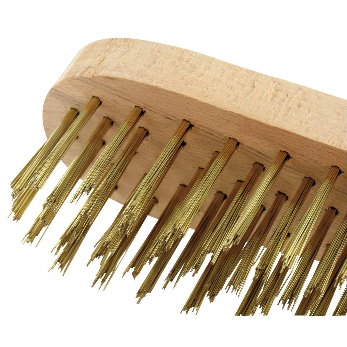 Brosse violon fils acier laitonné SCID - Longueur 38 mm