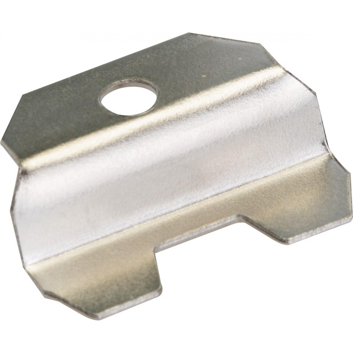 Patte à glace acier nickelé PVM - Dimensions 28 x 21 mm - Vendu par 4