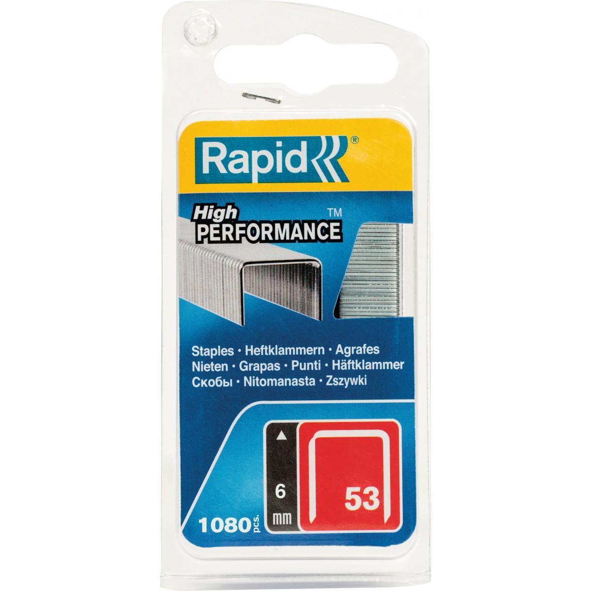 Agrafe n°53 Rapid Agraf - Hauteur 6 mm - 1080 agrafes