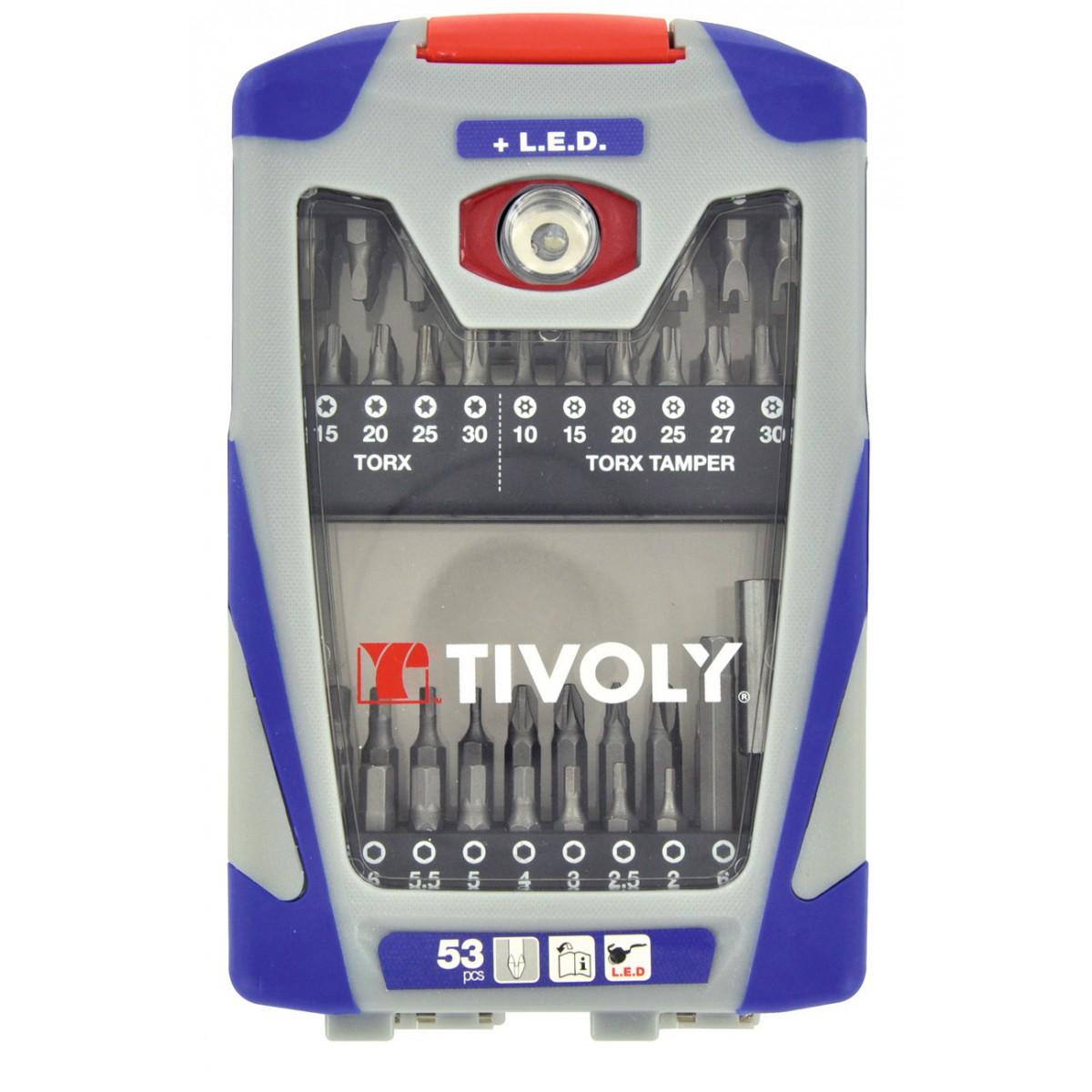 Coffret 53 embouts de précision Tivoly - 53 piéces