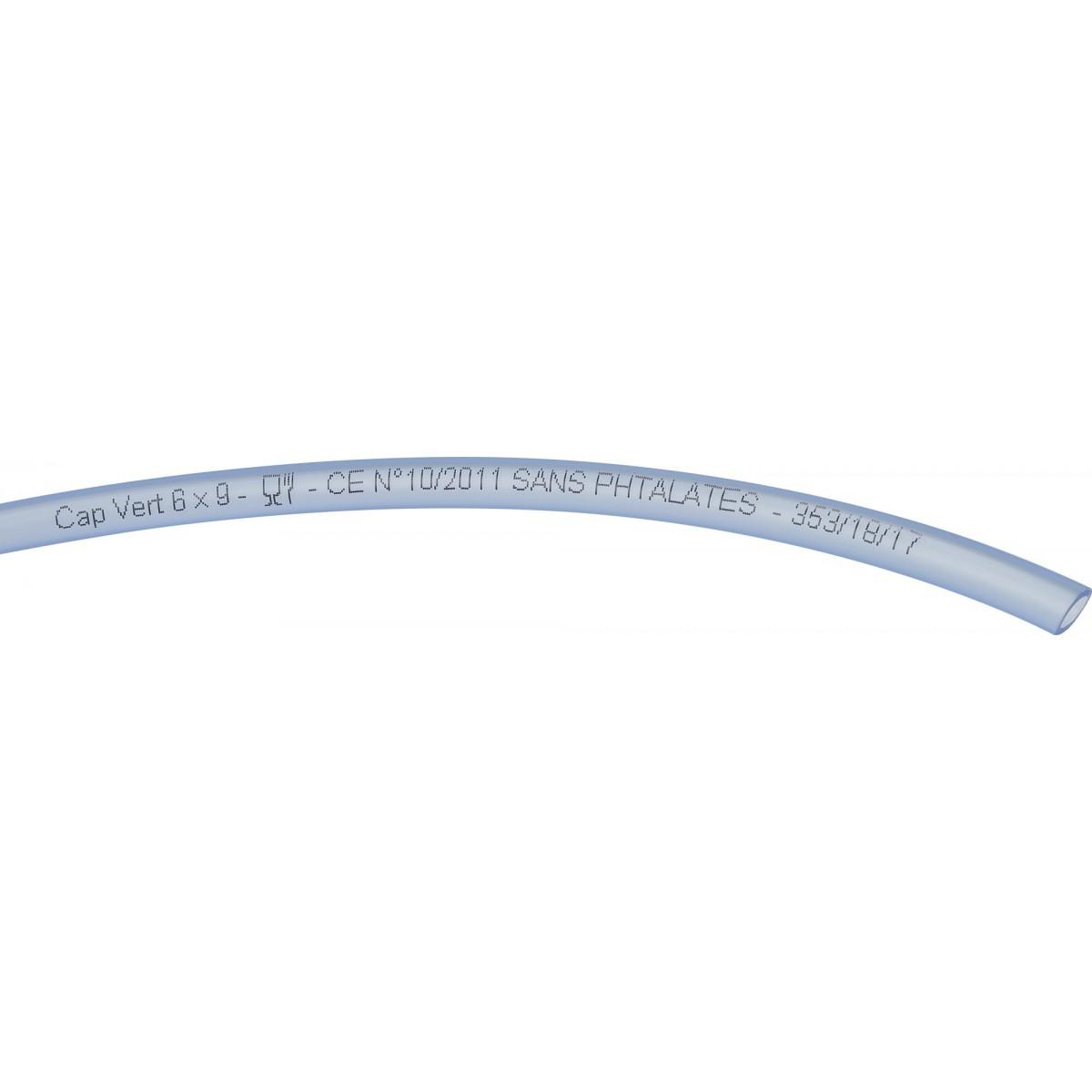 Tuyau cristal Cap Vert - Longueur 50 m - Diamètre intérieur 6 mm - Extérieur 9 mm